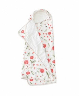 Little Unicorn Summer Poppy Cotton Muslin Big Kid Hooded Towel
