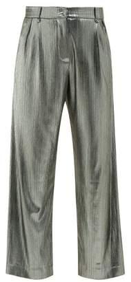 BLAZÉ MILANO Nova Metallic-jersey Trousers - Womens - Silver