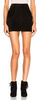 Saint Laurent Suede Trapeze Skirt
