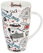 Harrods Doodle London Mug