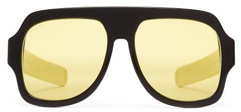 Gucci D-frame Acetate Sunglasses - Mens - Black