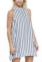 En Creme Stripe Dress