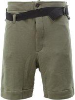 Ann Demeulemeester jersey belt shorts