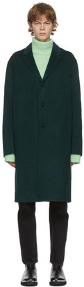 Acne Studios Green Wool Single-Breasted Coat