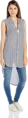 En Creme Women's Backless High Neckline Print Maxi Dress