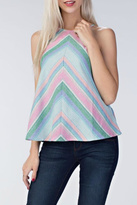 Honey Punch Chevron Love Top