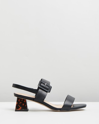 Nude Jovi Leather Block Heels