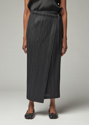 Pleats Please Issey Miyake Women's Thicker Bottoms Skirt in Black Size 1