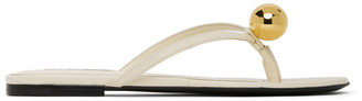 Jil Sander Off-White Gold Ball Thong Sandals