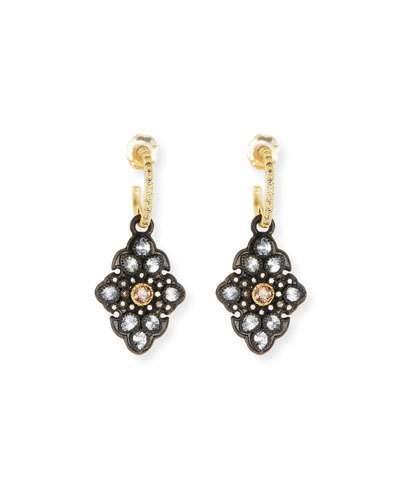 Armenta Old World Garnet & Diamond Scroll Drop Earrings