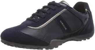 Geox Women's D SNAKE B Low-Top Trainer Blue Size: 3