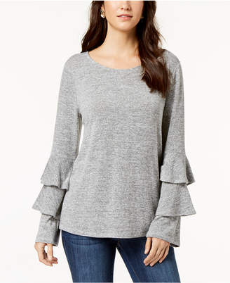 Style&Co. Style & Co Petite Double Bell Sleeve Top