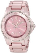 Juicy Couture Women's 1900888 RICH GIRL Pale Pink Aluminum Bracelet Watch