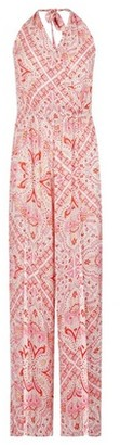 Dorothy Perkins Womens Dp Beach Pink Paisley Print Jumpsuit, Pink