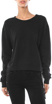Ragdoll Los Angeles Lace Up Cropped Sweatshirt