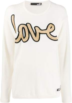 Love Moschino Love embroidered sweater