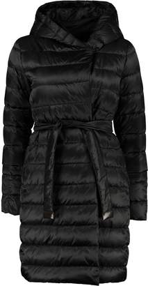 Max Mara s Here Is The Cube Novef Reversible Down Jacket With Double Waist Belt