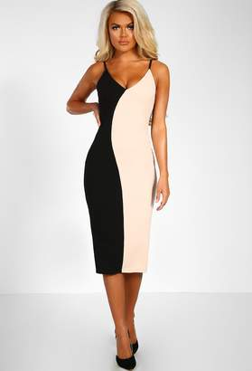 Pink Boutique Feel The Rush Multi Contrast Bodycon Midi Dress