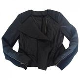 BCBGMAXAZRIA Black Polyester Coat