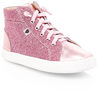 Old Soles Kid's Glitter High-Top Sneakers