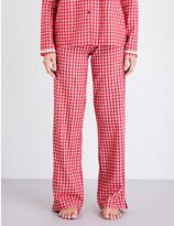 Calvin Klein Check-pattern cotton-flannel pyjama bottoms