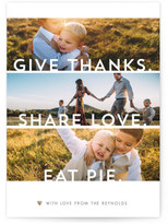 Minted Clean Thankful Wishes Thanksgiving Cards