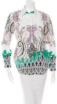 Etro Ornate Print Button-Up Top