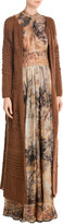 Alberta Ferretti Long Cardigan with Mohair