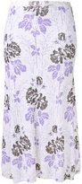 Victoria Beckham floral skirt - women - Wool - 12