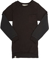 Lennon and Wolfe Thermal-Sleeve Cotton-Modal T-Shirt-BLACK