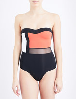 Jets Electrify strapless swimsuit