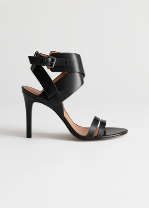And other stories Leather Buckle Heeled Sandals