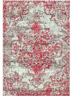 Bungalow Rose Aliza Handloom Red Area Rug Rug Size: Rectangle 8' x 10'