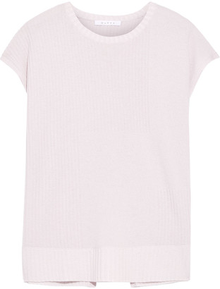Duffy Wrap-effect Ribbed Cashmere Top