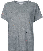 The Great The Boxy embroidered T-shirt - women - Cotton/Polyester/Rayon - 1