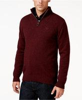 Barbour Half-Zip Mock-Collar Wool Sweater