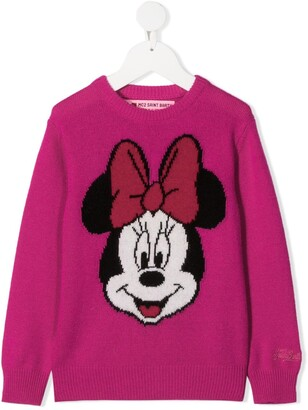 Mc2 Saint Barth Kids Minnie Mouse intarsia knit jumper