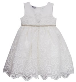 Blueberi Boulevard Toddler Girls Embroidered Dress