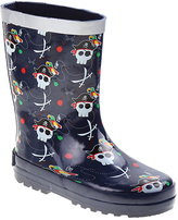 Joseph Allen Navy Pirate Skull Rain Boot