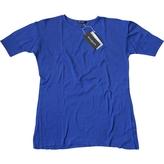 Balmain Blue Cotton T-shirt