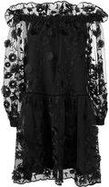 Alberta Ferretti sheer embroidered layer dress - women - Silk/Polyester/Acetate/other fibers - 44
