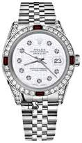 Rolex Datejust White Jubilee Dial with Ruby & Diamonds Bezel 31mm Womens Watch