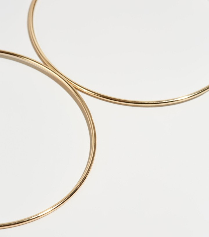 Thumbnail for your product : New Look Skinny Oversized Hoop Earrings