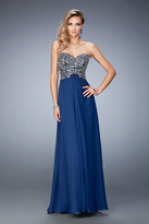 La Femme Gigi GiGi - 22420 Bedazzled Sweetheart Chiffon A-line Dress