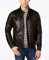 Michael Kors Men's Perforated Leather Bomber Jacket