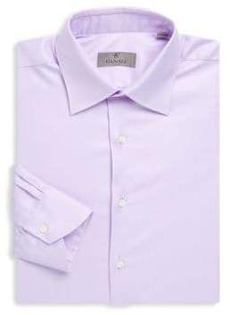 Canali Long-Sleeve Cotton Dress Shirt