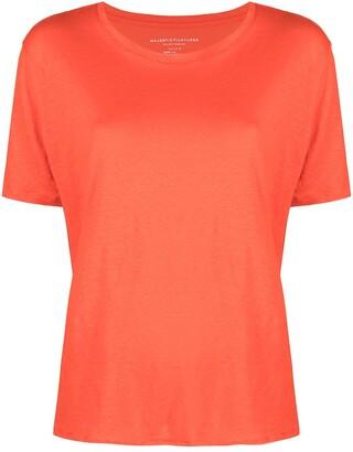 Majestic Filatures linen-blend short-sleeved T-shirt