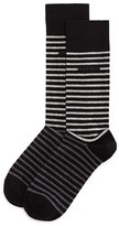 HUGO BOSS Stripe Combed Cotton Socks