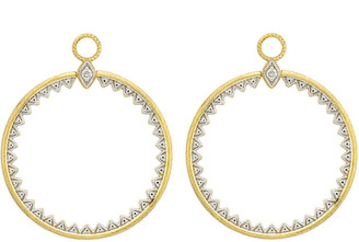 Jude Frances Lisse Medium Open Circle Half-Kite Earring Charms