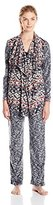 Ellen Tracy Women's Long Sleeve Micro Fleece Pajama Set